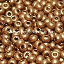 10gr PERLES MINI ROCAILLES TCHEQUE ORNELA 11/0 - 2MM COLORIS LIGHT GOLD MAT 01710
