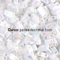 5GR BEADS HALF TILAS MIYUKI COLOURS WHITE PEARL AB HTL0471