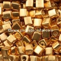 10GR BEADS SQUARE MIYUKI COLOURS GALVANIZED GOLD SB3-1052