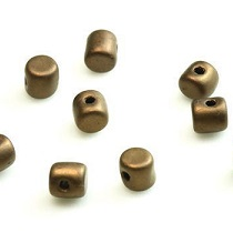 5GR BEADS MINOS® BY PUCA® 2.5X3MM COLOURS DARK BRONZE MATTED 23980/84415