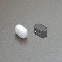 10GR PERLES IOS® PAR PUCA® 5.5X2.5MM COLORIS OPAQUE WHITE CERAMIC LOOK 03000/14400