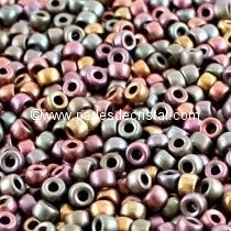 10GR MATUBO Czech Glass Seed Beads 7/0 (3.5mm) COLOURS CRYSTAL GREY RAINBOW - 00030/01670