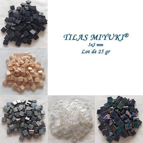 DISCOVERY OFFER: 5 COLORS TILAS MIYUKI® 5X5MM - OF 25GR TILAS