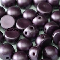 20 GLASS BEADS CABOCHON 2-HOLE 6MM COLOURS PASTEL BORDEAUX 02010/25032