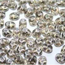 10GR SUPERDUO 2.5X5MM GLASS COLOURS BLACK DIAMOND LUSTER 40020/14400