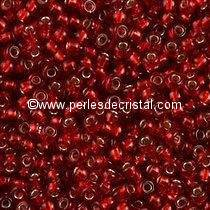 10G Mini Seed beads ORNELA 11/0 - 2mm COLOURS SIAM-RUBY SILVER LINED