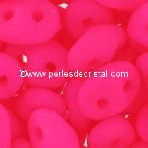 10GR SUPERDUO 2.5X5MM GLASS COLOURS PINK NEON MAT / PINK FLUO