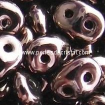 10GR SUPERDUO 2.5X5MM EN VERRE COLORIS DARK BRONZE 23980/14415