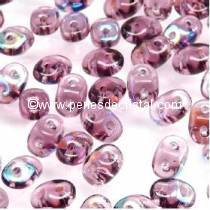 10GR SUPERDUO 2.5X5MM GLASS COLOURS AMETHYST AB 20060/28701