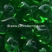 10GR SUPERDUOS 2.5X5MM EN VERRE COLORIS GREEN