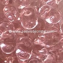 10GR SUPERDUO 2.5X5MM EN VERRE COLORIS LIGHT ROSE 70120