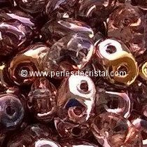 10GR SUPERDUO 2.5X5MM GLASS COLOURS CRYSTAL CAPRI GOLD 00030/27101