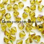 50 TOUPIES 4MM CRISTAL SWAROVSKI COLORIS SIAM AB #5301