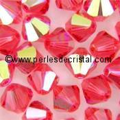 50 TOUPIES 4MM CRISTAL SWAROVSKI COLORIS TOPAZ AB #5301