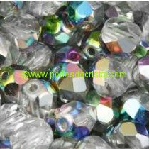 50 BOHEMIAN GLASS FIRE POLISHED FACETED ROUND BEADS 4MM COLOURS CRYSTAL VITRAIL MEDIUM 00030/28101
