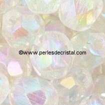 25 BOHEMIAN GLASS FIRE POLISHED FACETED ROUND BEADS 6MM COLOURS CRYSTAL AB 00030/28701