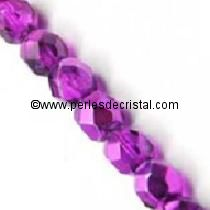 20 BOHEMIAN GLASS FIRE POLISHED FACETED ROUND BEADS 8MM COLOURS FUCHSIA CAL 00030/97277 - COMET ARGENT LIGHT
