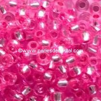 10G Mini Seed beads ORNELA 11/0 - 2mm COLOURS PINK SILVER LINED