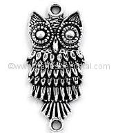 CONNECTOR ANIMAL : OWL SILVER