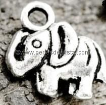 BRELOQUE CHARMS ANIMAL : ELEPHANT EN ARGENT 11.5 X 9MM