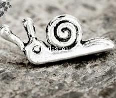 BRELOQUE CHARMS ANIMAL : ESCARGOT EN ARGENT 
