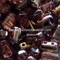 10GR RULLA 3X5MM EN VERRE COLORIS LIGHT ROSE CAPRI GOLD