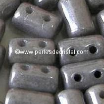10GR RULLA 3X5MM EN VERRE COLORIS OPAQUE GREY CERAMIC LOOK