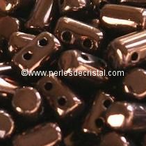 10GR RULLA 3X5MM GLASS COLOURS DARK BRONZE