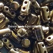 10GR RULLA 3X5MM GLASS COLOURS GOLD BRONZE 24 CARATS