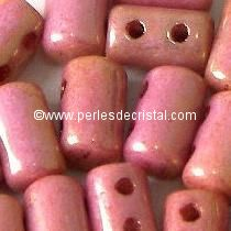 10GR RULLA 3X5MM EN VERRE COLORIS OPAQUE ROUGE ORANGE CERAMIC LOOK