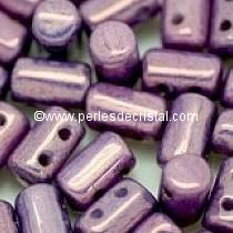 10GR RULLA 3X5MM EN VERRE COLORIS OP. AMETHYST/GOLD CERAMIC LOOK