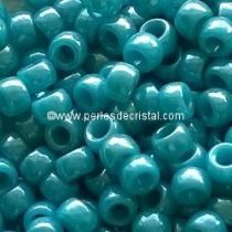 10GR ROCAILLE MATUBO 7/0 - 3.5MM  COULEUR DARK TURQUOISE LUSTER
