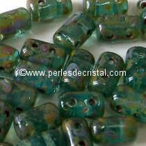 100GR RULLA 3X5MM GLASS COLOURS AQUAMARINE TRAVERTIN DARK
