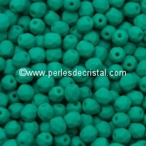 50 BOHEMIAN GLASS FIRE POLISHED FACETED ROUND BEADS 4MM COLOURS DARK GREEN NEON MAT 02010/25128