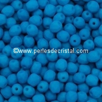 25 BOHEMIAN GLASS FIRE POLISHED FACETED ROUND BEADS 6MM COLOURS AQUAMARINE NEON MAT 02010/25127
