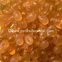 50 MINI-DROPS BOHEMIAN 4X6MM GLASS COLOURS TOPAZ OPAL