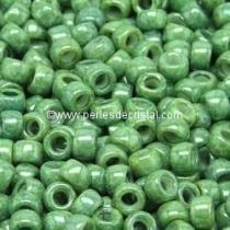 10GR ROCAILLE MATUBO 8/0 - 3MM  COULEUR OPAQUE GREEN CERAMIC LOOK 03000/14459