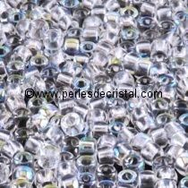 10GR MATUBO Czech Glass Seed Beads 8/0 (3mm) COLOURS CRYSTAL AB 00030/28701