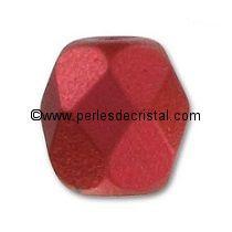 50 FACETTES 4MM CRISTAL VERRE DE BOHEME COLORIS RED METALLIC MAT 03000/01890