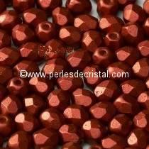 25 FACETTES 6MM CRISTAL VERRE DE BOHEME COLORIS BRONZE RED MAT 00030/01750