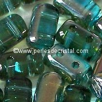 10GR RULLA 3X5MM EN VERRE COLORIS AQUAMARINE CELSIAN