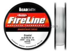 NYLON WIRE FIRELINE 6LB - 0008 - COLOUR CRYSTAL - REEL 46M (50YD)