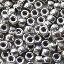 10GR MATUBO Czech Glass Seed Beads 8/0 (3mm) COLOURS SILVER ALUMINIUM MAT 00030/01700 LABRADOR MAT