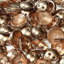 30 PIGGY 4X8MM EN VERRE COLORIS CRYSTAL CAPRI GOLD - 00030/27101