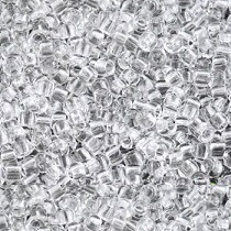 10GR ROCAILLE MATUBO 7/0 - 3.5MM  COULEUR CRYSTAL