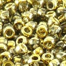 10GR ROCAILLE MATUBO 7/0 - 3.5MM  COULEUR CRYSTAL AMBER - 00030/26441