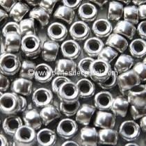 10GR MATUBO Czech Glass Seed Beads 7/0 (3.5mm) COLOURS SILVER ALUMINIUM MAT - 00030/01700
