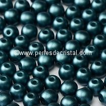 50 SMOOTH ROUND BEADS 4MM PASTEL PETROL / BLUE - 02010/25033
