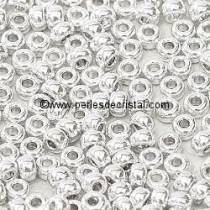 10gr SEED BEADS MIYUKI 11/0 - 2MM COLOURS CRYSTAL LABRADOR FULL 55006 SILVER