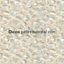 50 SMOOTH ROUND BEADS 4MM CRYSTAL AB